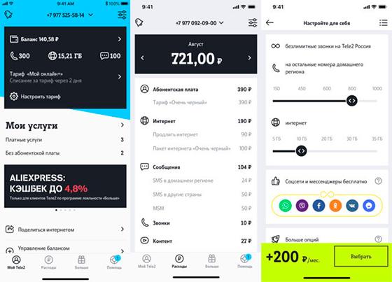 мобильное приложение Мой Теле2 обзор