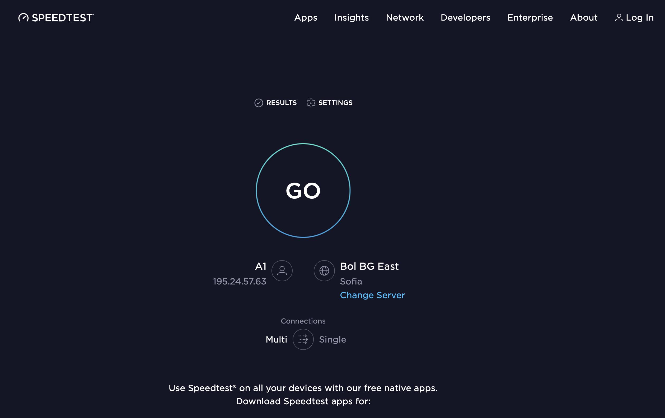 как проверить скорость интернета на телефоне теле2 - speedtest