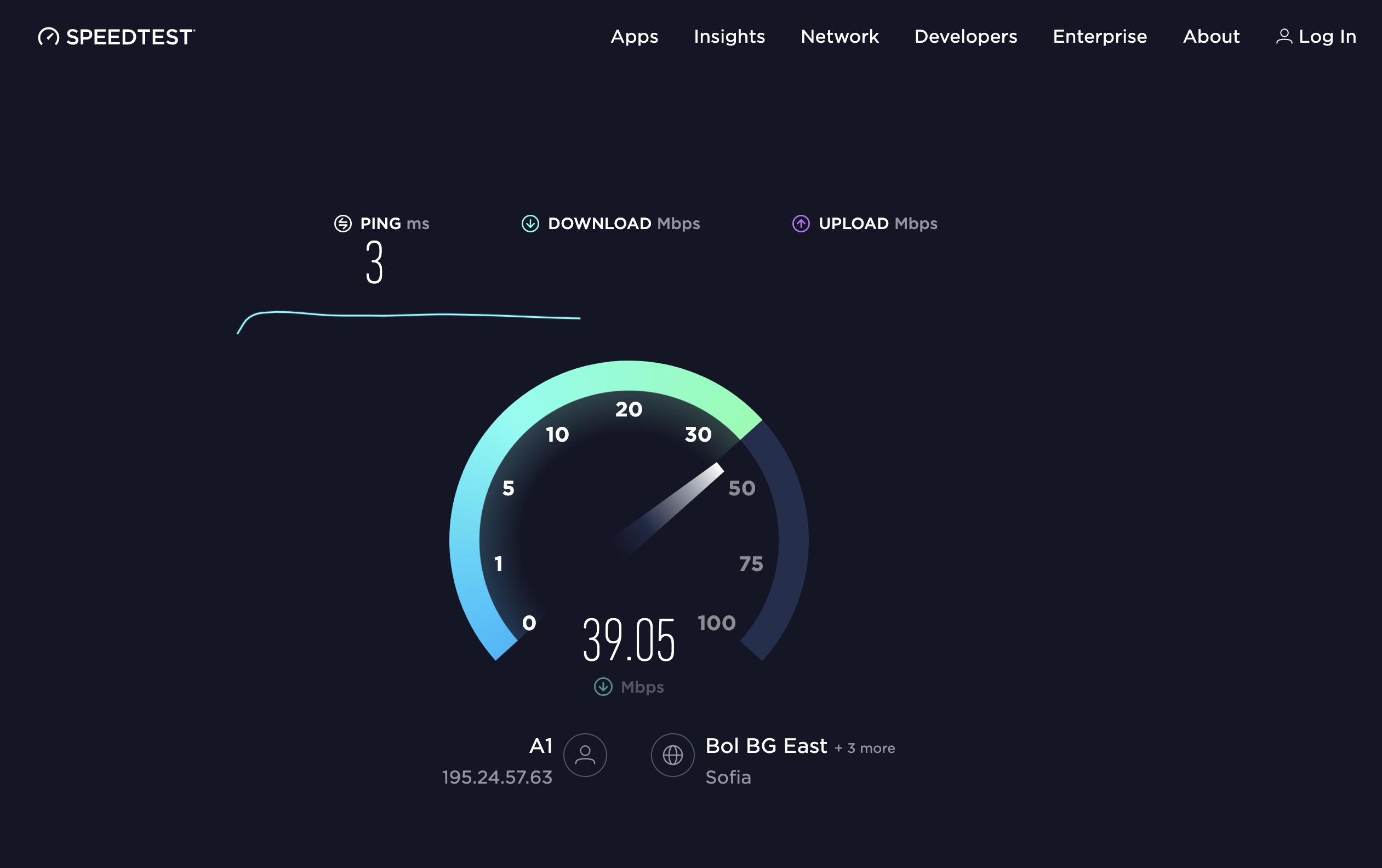 как через speedtest проверить скорость интернета на телефоне теле2